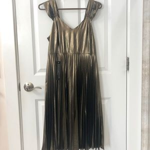 TopShop gold foil print dress M, new with tags